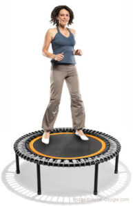 woman on rebounder