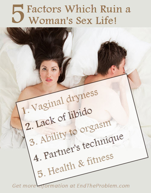5 Factors Which Ruin a Woman's Sex Life