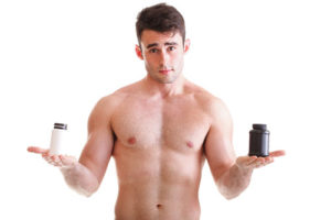 man with sexual enhancement pills