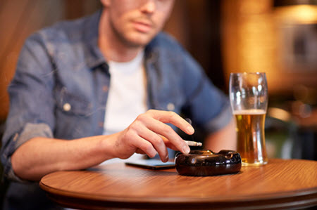 smoking and drinking can affect blood flow to penis