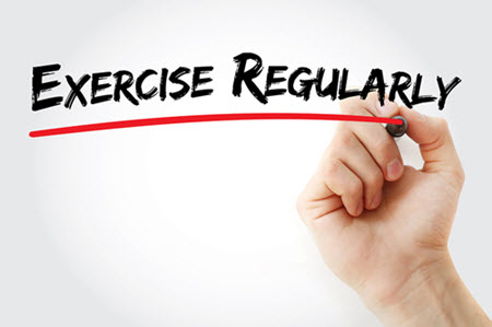 exercise regularly to improve blood flow